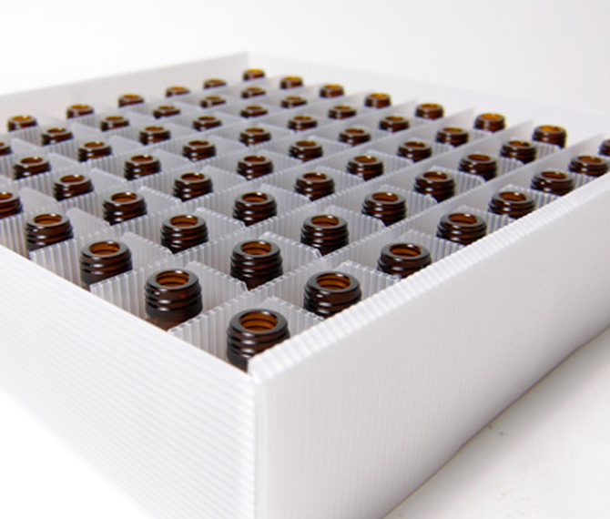 Polionda trays and hives for the pharmaceutical sector