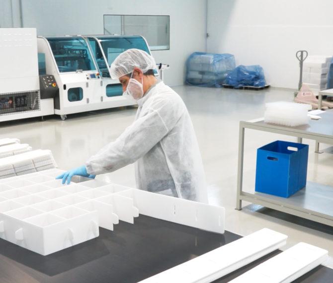 Packaging farmaceutico sterile in polipropilene